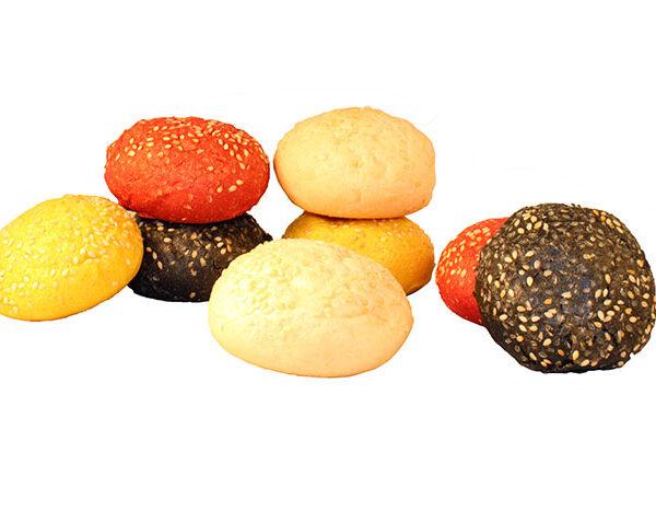 surtido de mini hamburguesas de colores ibepan