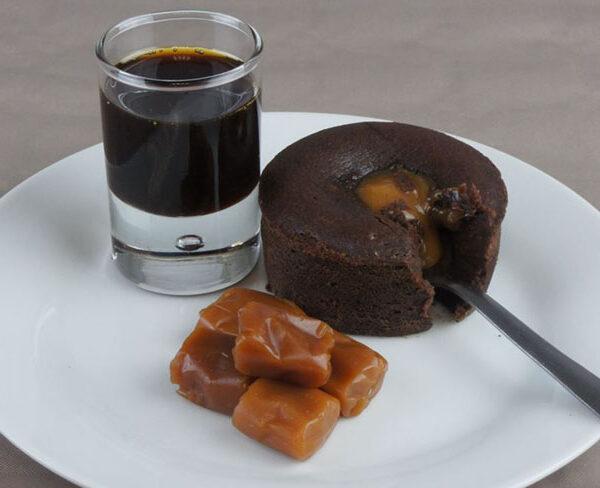 coulant chocolate y caramelo tres delirium